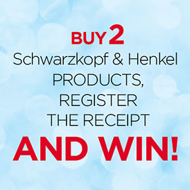 Buy 2 Schwarzkopf & Henkel and win!